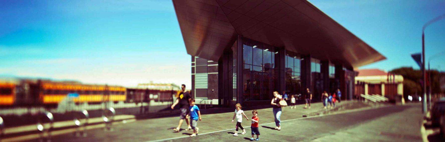 Outside Toitu Otago Settlers Museum