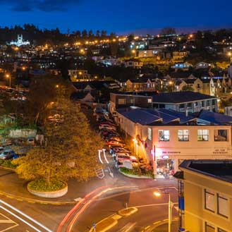 Dunedin City at night