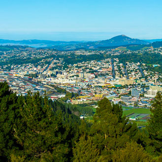 The view of Dunedin from the Signal Hill Lookout